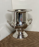 Leonard Silver Plated Fancy Handles Champagne Ice Bucket Vintage No. 354