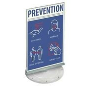Azar Displays 108558 Two-sided Revolving Acrylic Sign Holder 11w X 17h