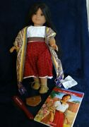 American Girl Doll Josefina With Accessories Earrings And Necklace