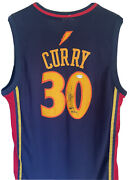 Stephen Steph Curry Signed Autographed Jersey Inscribed Andldquoholey Moleyandrdquo Psa Fully