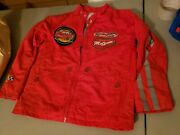 New Disney Cars Childs Red Rust-eze Jacket Nwot Size 7/8
