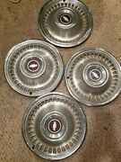 Set Of 4 Chevy 1960s Aftermarket Antique Hubcaps Hub Caps Wheel Covers 14