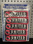 """100, Vintage """"united We Shall Overcome""""1960s Protest Bumper Stickers Impko"""