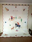 Roundup Time Pieced Quilt From A Kit. C. 1950s Cottons