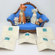 Wdcc Aristocats Oand039malley Duchess Marie Toulouse Berlioz Sofa +coaand039s And Boxes