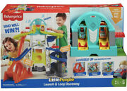 Little People Launch And Loop Raceway Light-up Vehicle Playset Sounds Fisher Price