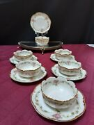 Set Of 6 Haviland France - Wright Tyndale And Van Roden Marked Ramiken And Saucers