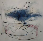 Painting Signed Abstract Composition