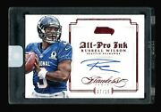 Russell Wilson 2014 Flawless All Pro Ink Auto 7/15