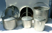 Mirro Vintage Aluminum Nesting Camping Cooking Large Set Cook Cookware