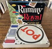 Vintage Whitman 1959 Rummy Royal Game Never Used Sealed Chips + Playing Card Ts