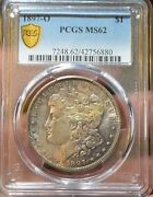 1897 O 1 Pcgs Ms62 Morgan Silver Dollar, Better Date Coin Toned