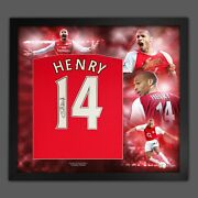 Thierry Henry Signed Arsenal Fc Football Shirt In An Amazing Frame Display
