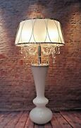 Magnificent Unique Crystal Floor Lamp 42 1/8in High Cottage