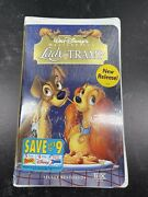 Lady And The Tramp Masterpiece Factory Sealed Vhs 1998 Clam Shell