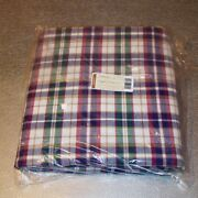 Longaberger Woven Traditions Plaid Fabric 5-yards Yds Made In Usa Brand New