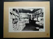 Antique Photograph - Great Early Grocery Store Early Products Advertising Signs