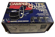 Vintage Nos Campbell Cross Reinforced Pair Snow Tire Chains 1254 Ct Unused