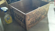 Antique Lenox Soap Wooden Crate Box Proctor And Gamble Rare Cool Graphics Look