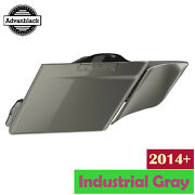 Industrial Gray Stretched Saddlebag Side Covers For 2014+ Harley Touring