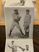 1908 Detroit Tigers Our Home Team Rare Accordion Vintage Postcard Ty Cobb And More