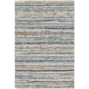 Striped Area Rugs 70 Wool 30 Viscose Hand Knotted Medium Pile For Home Decor
