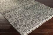 Solid Area Rugs 60 Viscose, 40 Wool Hand Woven No Pile For Home Decor