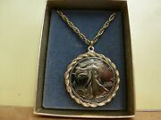 Walking Liberty Half Dollar With Necklace Coin Bezel And 18 Inch Chain