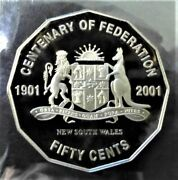 50 Cents Proof Brilliantly Uncirculated 2001 Australian Coin - Limited Edition
