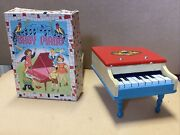 Red Baby Piano Grand Toy With Box Works Antique Made In Japan
