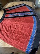 Antique 19th Qing Dynasty Chinese Embroidered Silk Skirt
