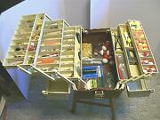 Plano 6 Tray Tackle Box Loaded With Lures Ready To Fish - Rapala Dardevle Etc