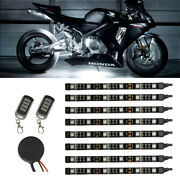 Ledglow 8pc White Smd Led Flexible Motorcycle Under Glow Accent Body Kit