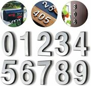 3d 0-9 Brass Mailbox Numbers 4 Self-adhesive Door Numbers Address House Numbers
