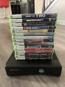 Xbox 360 S Slim 4gb Console Kinect 4 Controllers 15 Games 256gb Hard Drive