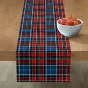Table Runner Tartan Plaid Red White And Blue Patriotic Richelieu Cotton Sateen