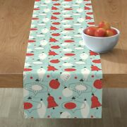 Table Runner Holidays Decorations Baubles Ornaments Christmas Cotton Sateen