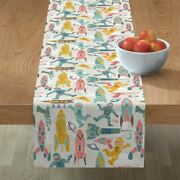 Table Runner Rocket Ships Outer Space Blast Off Spaceship Ray Gun Cotton Sateen