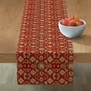 Table Runner Persian Iranian Horses Ponies Oriental Library Cotton Sateen