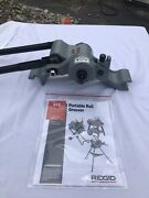 Ridgid 916 Roll Groover 1-1/4 - 3 Inch Schedule 40 And 1-1/4 - 6 Inch Schedule 10