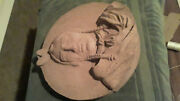 Antique 1 Of 2 Old Chief Sleepy Eye Concrete Bust Downtown Building Sign Mn