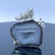 Natural Agate Fox Necklaces Pendants Women 925 Sterling Silver Necklace Jewelry