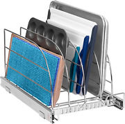 Pull Out Organizer Rack For Bakeware Sliding Kitchen Cabinet Organizers