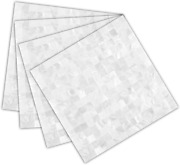 """Tpfshmother Of Pearl Peel And Stick Backsplash Tiles,12""""x12"""" Ivory White Self Ad"""