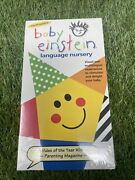 New Sealed Disney Baby Einstein Language Nursery Vhs Video Tape Infant Learning