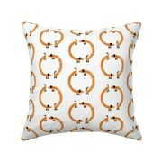 Nic Squirrell Dachshund Sausage Throw Pillow Cover W Optional Insert By Roostery