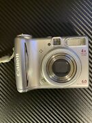 Canon Power Shot A540 6.0 Mp 4xzoom Digital Camera Batteries Included