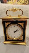Rare Vintage And Co Electric Brass Swiss Made Carriage Clock