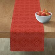 Table Runner Persian Red Oriental Carpet Rug Brocade Holiday Cotton Sateen