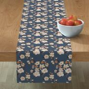 Table Runner Wildflowers Rustic Farmhouse Modern Floral Soft Cotton Sateen